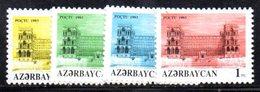 99A 490 - AZERBAIGIAN 1992 , Serie  Unificato N. 111/114  Nuova *** - Azerbaijan