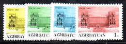99A 490 - AZERBAIGIAN 1992 , Serie  Unificato N. 111/114  Nuova *** - Azerbaïjan