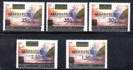 100 490 - AZERBAIGIAN 1992 , Serie  Unificato N. 72/76  Nuova *** - Azerbaijan