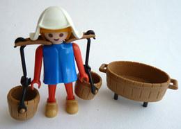 RARE PLAYMOBIL KLICKY 3372 FEMME Médiévale Avec Deux Sceaux En Loose 1977-79-80 - Playmobil