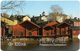 Finland - MD Series - Old Riverside Storehouses In Porvoo - 1FIND - 05.1989, 50.000ex, Used - Finland