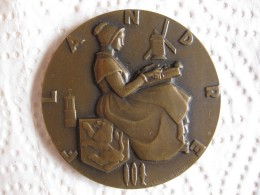 Médaille Paquebot Le FLANDRE  French Line, Par Marcel Renard - France