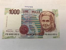Italy Montessori Uncirculated Banknote 1000 Lira #3 - [ 2] 1946-… : Repubblica