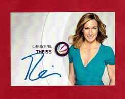 Christine Theiss ( Ehemalige Deutsche Kickboxerin, Die Von 2007 Bis 2013 Profi-Weltmeisterin  )  -  Persönlich Signiert - Autographes