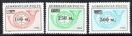 174 490 - AZERBAIGIAN 1995 , Serie  Unificato N. 228/230  Nuova *** - Azerbaïjan