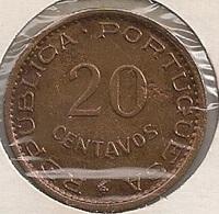 Moeda Angola Portugal - Coin Angola 20 Centavos 1948 - MBC + - Angola