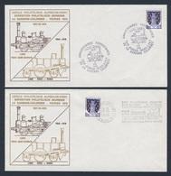 France Rep. Française 1978 Cover / Brief / Eveloppe (2x) - Ligne Paris - Saint-Germain + Paris - Rouen / Eisenbahn - Treinen
