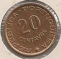 Moeda Angola Portugal - Coin Angola 20 Centavos 1962 - BELA (SOBERBA) - Angola
