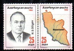 213 490 - AZERBAIGIAN 1993 , Serie  Unificato N. 107/106  Nuova *** - Azerbaijan