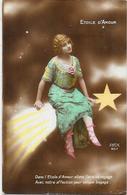 CPA Astronomie Comète Femme Girl Women écrite - Astronomia