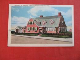 Residence Joseph C. Lincoln Chatham   Cape Cod Massachusetts >  Ref 2993 - Cape Cod