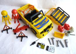 RARE PLAYMOBIL COLOR EQUIVALENCE DE  BOITE Voiture De Rally Et Pilotes 3524 1980-81 à 1983-84 EN LOOSE Klicky - Playmobil