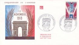 ENV 1ER JOUR BATAILLE 50EME ANNIV DE L'ARMISTICE 9/11/1968 (dil372) - 1960-1969