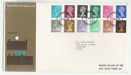 1971 Windsor GB COVER POSTING DELAYED BY POSTAL STRIKE Fdc Stamps Great Britain Postal Strike Definitives - FDC