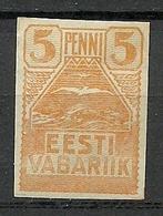 Estland Estonia 1919 Michel 5 MNH - Estland