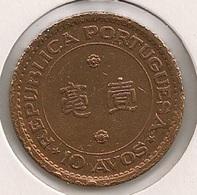 Moeda Macau/Portugal - Coin Macao 10 Avos 1952 - BC + - Macao