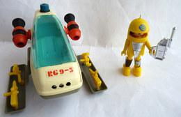 RARE PLAYMOBIL KLICKY PLAYMO SPACE VEHICULE LUNAIRE EQUIVALENCE DE  BOITE 3509 1980-81 à 1988-89 EN LOOSE - Playmobil