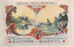 CPA BAYONNE BIARRITZ 1923 @ EXPOSITION @ - France