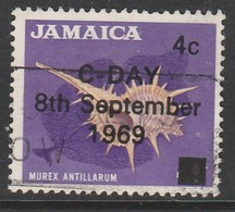 Jamaica  1969 Issue Of 1964 Overprinted 4/4 C/P Multicoloured SW 287 O Used - Jamaica (1962-...)