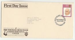1980 Sir THOMAS BEECHAM BIRTH PLACE FDC  Music Stamps Cover St Helens GB Heraldic Pic - FDC