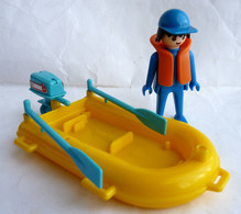 RARE PLAYMOBIL KLICKY EQUIVALENCE DE  BOITE 3574 Canot Pneumatique 1979-80 à 1984-85 EN LOOSE Incomplet - Playmobil