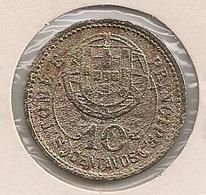 Moeda São Tomé E Príncipe Portugal - Coin S. Tomé E Príncipe -  10 Centavos 1929 - BC - Sao Tome Et Principe