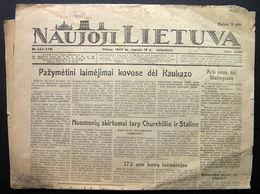 1942.09.19 Lithuania WW II/ Newspaper/ Naujoji Lietuva No. 222 - Other