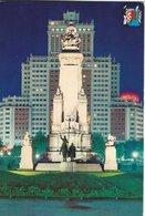 Madrid - Cervantes Monument In Spain Square.   Spain.  # 07724 - Madrid