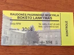Lithuania Museum Ticket Raudones Castle 2018 - Tickets - Entradas