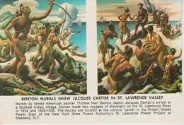 (EUA480) NEW YORK. ST LAWRENCE VALLEY. BENTON MURALS SHOW JACQUES CARTIER ... UNUSED - New York City