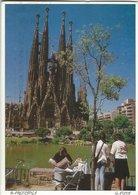 Barcelona - Gaudi.  Sent To Sweden.   Spain.  # 07725 - Barcelona