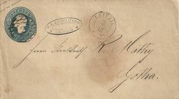 Postwaardebrief Van SACHSEN Met 2 Neugroschen Naar LEIPZIG Op 3 XII 1859 Naar GOTHA - Sachsen