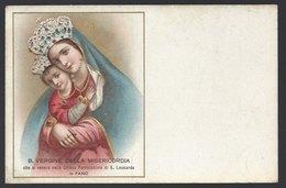 Fano (Pesaro Urbino) - Vergine Della Misericordia - Non Viaggiata, FP - Vergine Maria E Madonne