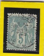 SAGE N° 75 TYPE II B  + CACHET A DATE PARIS 26   4 JUIL. 1898  - REF ACDIV - 1876-1898 Sage (Type II)