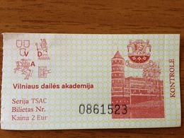 Lithuania Museum Ticket  Panemunes Castle 2018 - Tickets - Entradas