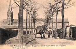 Westmalle - Abdij Der Trappisten - L'Entrée De L'Abbaye Des Trappistes (animation, Attelage, F. Hoelen) - Malle