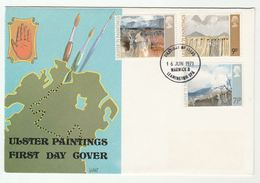 1971 Leamington Spa GB FDC ULSTER PAINTINGS ART Stamps Cover - FDC