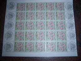 TIMBRE 1.7 FRANCE NEUF Feuille De 25 1ER JOUR 1977 Horticulture 23/4 - Feuilles Complètes