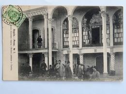 C.P.A. : IRAN, Perse, Maison Persane à TAVRIS, TABRIZ, Timbre En 1905 - Iran