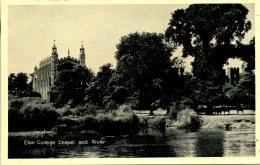 BERKS - WINDSOR - ETON - COLLEGE CHAPEL AND RIVER Be119 - Windsor