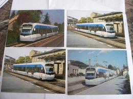 SARREGUEMINES (57) : Tramway, Liaisons Avec La Ville De SARREBRUCK (Allemagne) - Lot De 4 CPM  - Voir Les Scans - Tramways
