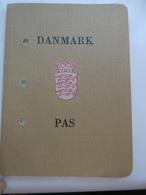 Passeport, Passport, Reisepass, Pasaporte Du Danmark, Années 1980, Document En Blanc, Pas De Frais Paypal - Documents Historiques