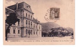 & Albertville - L ' Esplanade De L ' Hôtel De Ville Et Le Château De La Palud - Albertville