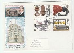 1972 Birmingham GB FDC Illus MARCONI  Stamps BBC CAMERA RADIO BROADCASTING  Cover - FDC