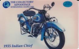 TARJETA DE ESTADOS UNIDOS DE UNA MOTO 1935 INDIAN CHIEF (MOTO-MOTORBIKE) - Motos