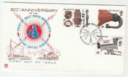 1972 London RADIO BROADCASTING  GB FDC  Stamps Cover Bbc Camera - FDC