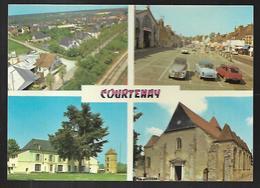 Cpm 4514321 Courtenay 4 Vues Sur Carte , Simca Aronde , 2 Cv Citroen, - Courtenay