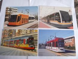 ESPAGNE VALENCE : TRAMWAY  - Lot De 4 CPM - Voir Les Scans - Tramways