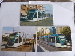 ESPAGNE BARCELONNE : TRAMWAY  - Lot 1 De 3 CPM - Voir Les Scans - Tramways