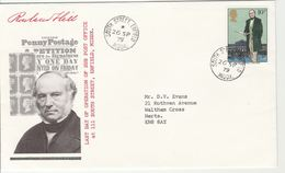 1979 South Street Enfield Cds GB FDC  ROWLAND HILL Stamps Cover Ill Penny Black - FDC
